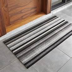 Grey Indoor Doormat by Chilewich Grey And Black Doormat Crate And Barrel