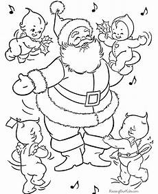 santa coloring pages 2018