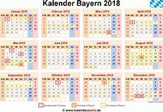 Kalender 2018 Bayern Ferien Feiertage Word Vorlagen