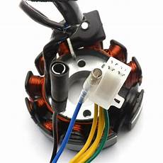 performance 11 pole dc magneto stator regulator wiring harness gy6 150 scooters ebay