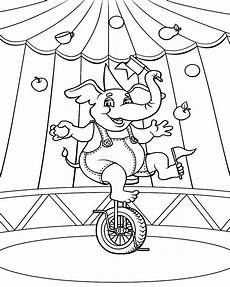 free coloring printables circus theme