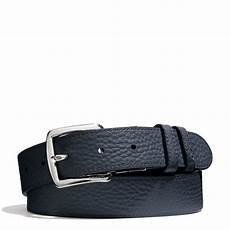 Coach Belt coach bleecker pebbled leather reversible belt in blue for