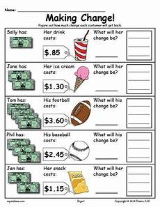 money lesson worksheets 2216 printable change money worksheets 2 versions money worksheets change