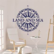 Wandtattoo Maritim Nautical Kompass Land And Sea