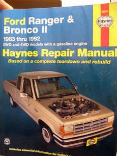 auto repair manual online 1992 ford f series parking system purchase 1983 1992 ford ranger bronco ii repair manual 2 4wd gas haynes motorcycle in