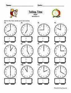 telling time worksheets o clock 3130 telling time clock worksheet to the hour by teaching tpt