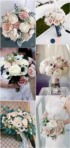 15 adorable navy blue and blush pink wedding bouquets gold wedding bouquets wedding bouquets