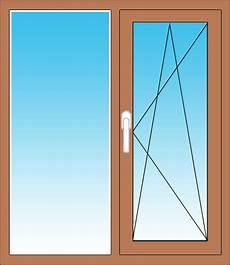 Zweiteiliges Fenster Mit Festverglasung Im Rahmen Und Dreh