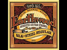 soft acoustic guitar strings ernie 2045 earthwood 80 20 bronze silk and steel soft acoustic guitar strings review