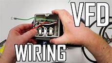 lathe vfd 1 how to wire a 3 phase motor and vfd youtube