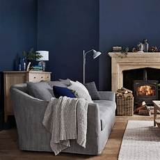 How To Combine Blue And Gray In Your Living Room