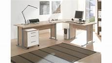 office line winkelschreibtisch office line sonoma eiche und wei 223 mit
