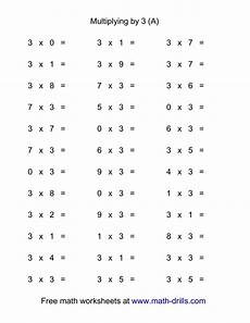multiplication worksheets up to 9 4629 36 horizontal multiplication facts questions 3 by 0 9 a