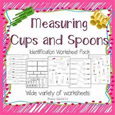 cooking measurement worksheets free 1982 measuring cups and spoons identification worksheets special education