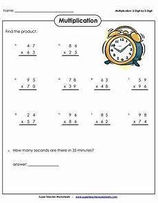 multiplication worksheets 2digit by 2 digit 4298 multiplication 2 digits times 2 digits