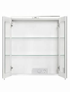 spiegelschrank 60 cm fackelmann spiegelschrank 2 t 252 rig led bxh 60 x 68 cm