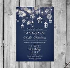 Winter Wedding Invitation Templates