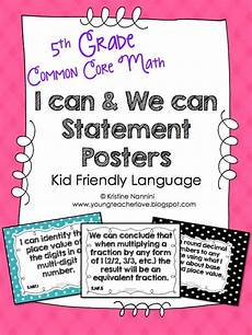 fifth grade common core math standards i can statements 6th grade math common core standards i