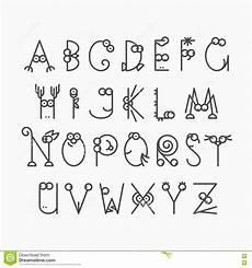 nette linie lateinisches alphabet vektor abbildung