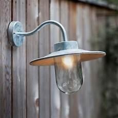 swan neck outdoor lighting galvanised