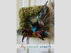 Easy DIY: Peacock Wreath   The Inspired Room