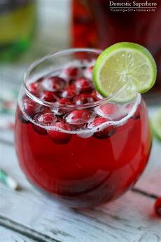 cranberry cocktail quick cranberry holiday mocktail recipes domestic superhero