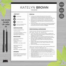 teacher resume template for ms word educator resume writing guide