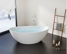 Kleine Freistehende Badewanne Bw 03 L Aus Mineralguss