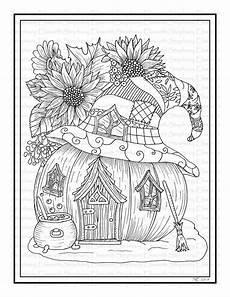 fall pumpkin house 8 1 2 x 11 printable instant