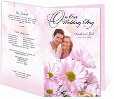 daisies wedding program templates easy to download and edit in word openoffice publisher