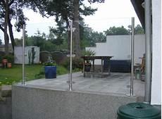 Terrassen Windschutz Glas - glaswindschutz panther glas