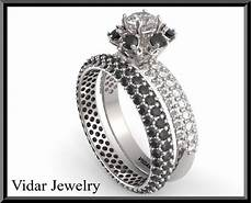 black and white diamond wedding ring vidar jewelry unique custom engagement and wedding