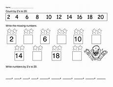 skip counting to 20 worksheets 12005 count by 2 s to 20 worksheet for 1st grade lesson planet