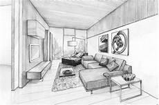 dessin d un salon un appartement styl 233 par arquitectura en movimiento