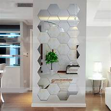 2018 hexagonal 3d mirrors wall stickers home decor
