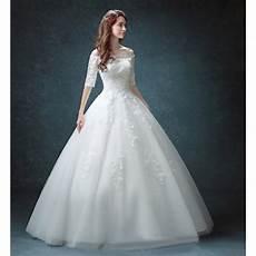 robe de mariée dentelle manches longues robe de mari 233 e mariage longue du plancher 233 paules d 233 nud 233 es