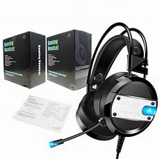 Wired Gaming Earphone Stereo Surround Sound by Led Light Gaming Headset Headphone Surround Sound