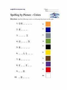 colors spelling printable 12809 spelling by picture colors worksheet for 3rd grade lesson planet