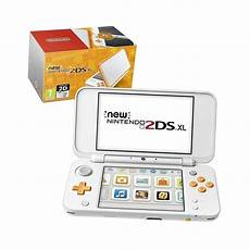 console nintendo 2ds new nintendo 2ds xl handheld console white and orange