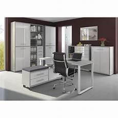 armoire haute de bureau design gris platine verre blanc