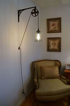 similar to our bedside lighting but with wooden brackets