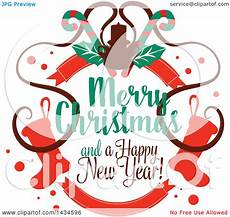 clipart of a merry and a happy new year greeting