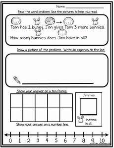 free word problem worksheets for kindergarten 11337 freebies math words math word problems addition words