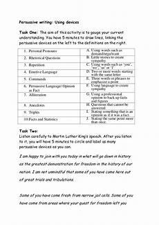 persuasive devices worksheet persuasive writing worksheet