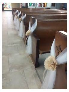 tulle church pew decoration search projects to try wedding ceremony chairs church