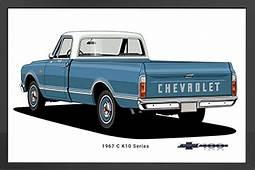 1967 C10 Fleetside Chevy Trucks Framed Print ChevyMall