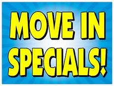 Apartment Rent Specials by Move In Specials Sign 103 Apartment Sign Templates