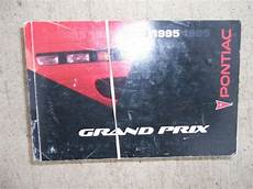 car owners manuals free downloads 1995 pontiac grand prix electronic valve timing 1995 pontiac grand prix auto owner manual gm maintenance controls service care r ebay