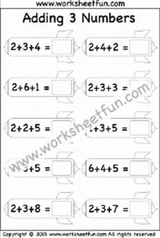 1st grade math worksheet adding 3 numbers addition adding 3 numbers free printable worksheets