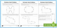 year 4 perimeter word problems worksheet teacher made